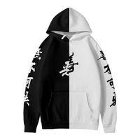 Mens Designer t shirts 2021 3D Black and white good evil Hoodies Men women Cartoon Element Hoodie Casual Children Long Sleeve Pullover