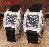 5A Quality Mens Womens Square Dial Designer Watches Leather Japan Quartz movement Chronograph Fashion Business wristwatches date Montre De Luxe Gift bracelet