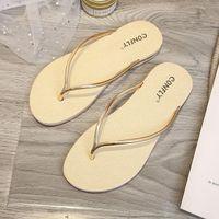 Sandali da donna Pantofole piatte Sandalo Sandalo Girl Scarpe Giriglia Brand Brand Jelly Ear Antiscivolo Slips Lady Flip Flops Size 35-40 no01