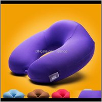 Outdoor Pads Purple Memory Foam Large U Shape Travel Pillow Neck Support Head Rest Cushion Is0381 Lqj9Q Svbgw