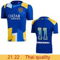 Ventilatori di qualità tailandese 21 22 Boca Juniors Soccer Jersey Carlitos Maradona Tevez de Rossi 2021Third Casa Away 3a 4a Tailandia Camicia da calcio Uniform