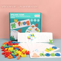 Baby Wooden Letter Puzzle Early Education Toy Kids Preschool Learning Words Spelling Teaching Sticker Children Cognitive Toys