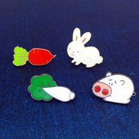 Moda smalto Giapponese Cartoon Series Pigs Cavolo Classe Cavolo Divertente Spoof Metallo Drip Pin Drip Badges Aggetto Il ruolo dell'obiettivo è assaggiato