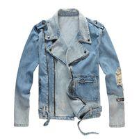 Giacche da uomo Fashion Giacca in denim di alta qualità Casual Hip Hop Designer Capispalla Abbigliamento famoso Plus Size M-4XL