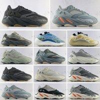 yeezy boost 700 V1 v2 zapatos de deportes reflectantes sol brillante azul sólido gris naranja tie-tinte corredor de carbono trullo estático negro hombres zapatillas de deporte B3