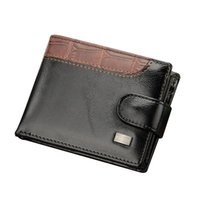 Wallets Patchwork Leather Men Short Male Purse With Coin Pocket Card Holder Trifold Wallet Clutch Money Bag PU Fashion