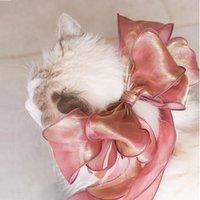 Disfraces de gatos Princess Cinta de encaje Cuello de encaje para gatos Elegante Gauze de seda para perros Accesorios para perros Gatito Dulce Decoración Decoración Pet Bows Yorkie RAG