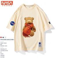 T-shirt de manga curta do algodão do urso da junta T-shirt masculino e fêmea dos casais dos estudantes do verão da meia-mangas do verão