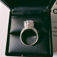 Cluster Rings Original Solid Real 925 Sterling Silver Women Flower Luxury Wedding Engagement Finger Ring For Jewelry R4427