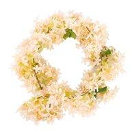 Guirnaldas de flores decorativas 1 PCE Artificial Lila Flor Rattan Bodas Sala de bodas Tienda Decoración Planta Coche Jardín Decoración