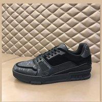 2021 고품질 남성 정품 가죽 신발 패널 수석 수제 스포츠 쇼즈 디자이너 캐주얼 스포츠 패션 스티치 컬러