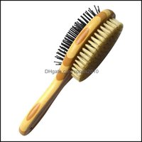 Pet Supplies Home Gardenyingte Grooming Brush For Dog & Cat 2 In 1 Pin And Soft Brush, Dogs Comb Cleaning Loose Fur Dirt Drop Delivery 2021