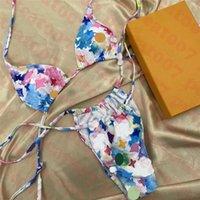 Ультрамодные женские бикини купальники набор печатных стринги женщины купальники текстильные летние лето на открытом воздухе леди купальный костюм пляжная одежда