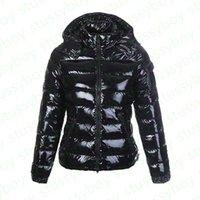 Fashion Womens Parka Glossy Down Giacca Cappuccio British Style Black Shiny Donne Cappotti DOUDOUNE Femme Cappotto invernale opaco nero Parka