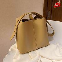 C Fashion Bucket Bag PU Leather Crossbody Bags for Women 2021 Shopper bagBranded Designer Luxury Handbags and Purses