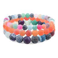 Изысканный модный цвет выдержанный камень браслет жемчужный бисерный фиолетовый ювелирные изделия цепочка из бисера, пряди