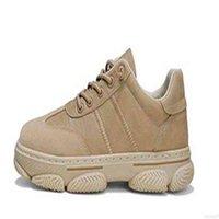 Ins تنفس صافي أحذية الرجال الرياضة الاتجاه عارضة تشغيل أحمر مزيل العرق الجلود مريحة البيج الأسود براون الشباب Size39-44