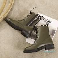 2021 winter luxury designer shoes high quality ladies new Martin boots ladies thick-soled ankle boots mid-tube rider boots motorcycle shoes
