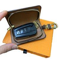 Fashion Key Buckle Bag Car Keychain Handmade Leather Keychains Man Woman Purse Bags Pendant Accessories