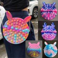 Fidget giocattoli sensoriale moda trucco piumino borse borse spinta bolla arcobaleno anti stress educativo bambini e adulti decompressione giocattolo ragazza regalo a sorpresa cs17