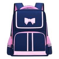 School Bags Children Orthopedics Backpack For Elementary Oxford Waterproof Pink Bag Kids Back Pack Boys Girls Cute Bow Bagpack