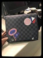 ЛеготьЛуиМЕШОКVittonВысококачественный мужской кожаный мешок сумка дизайнер Handbaga сумки на плечо мужчины портфель кошелек