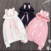 Cute Bunny Long Sleeve Lovely Womens Sweatshirt Rabbit Hoody Loose Size Cotton Treetwear