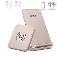 Caricabatterie wireless 2 Pack, Design amichevole della custodia massima 10W