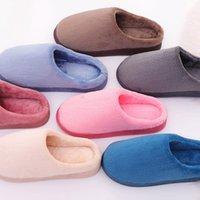 Pantofole Donne invernali Slipper Scarpe per la casa per Chinelos Pantufas Adulto Sof Solid Color Couple Plush Plus House Indoor