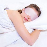 100% zijde slaap oog masker draagbare reizen eyepatch dutje oog patch rust geblinddoek ooghoes slaapmasker nacht eyeshade