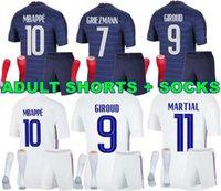 Adam 2021 Griezmann Mbappe Futbol Jersey Kante 20 21 Pogba Gömlek Maillot De Futbol Fransa Zidane Giroud Matuidi Kimmezbe Ndombele Thauvin Yetişkin Şort Çorap Seti Seti