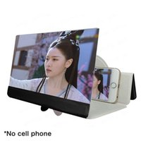 Cell Phone Mounts & Holders 5D Screen Folding Leather Mobile Magnifying Glass HD Stand Video Bracket Enlarge Eyes Protection