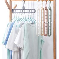 Laundry Bags Multi-Port Support Circle Clothes Hanger Drying Rack Multifunction Plastic Hangers Storage Racks
