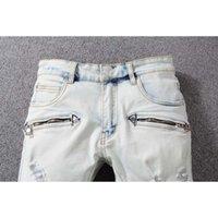 Mode- Neue Ankunft Mode Mens Designer Jeans Hohe Qualität Riss Cool Street Biker Jeans Cooler Kerl Jeans
