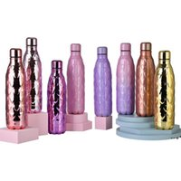 NEW500ml Stainless Steel Double-layer Sports Water Bottle Love Heart Plating Vacuum Insulated Capacity Insulated Tumblers by sea CCB10585