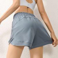 Шорты спортивные шорты женские легкие и тонкие наружные износы свободные повседневные чистые карманные быстросохнущие бегущие фитнес высокой талии йога