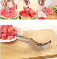 Stainless Steel Watermelon Slicer Cutter Melons Knife Cutter Corer Scoop Fruit Vegetable Tools Kitchen Gadgets EWE6603