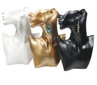 Embalaje Joyeríaunique Collar Pendiente Pantalla Busto Busto Resina Head Modelo Joyería Soporte Forma de cuello para Joyería Ventana Estante Exhibición Contar