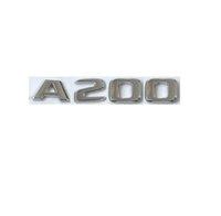 Flat Chrome ABS Rear Trunk Letters Badge Badges Emblem Emblems Sticker for Mercedes Benz A Class A200 W176