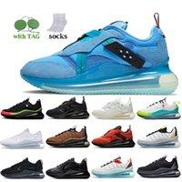 2021 Kadın Erkek Nik Air Max 720 Koşu Ayakkabıları 720-818 Kayma Obj Summit Beyaz Dünya Çapında Paketi Siyah Sneakers Takım Turuncu Metalik Bakır Gümüş Bullet Eğitmenleri