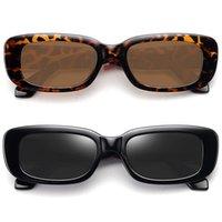 2021 Küçük Dikdörtgen kadın Retro Marka Tasarımcısı Gözlük Kare Güneş Gözlüğü Vintage Zonnebril Dames Lensler Güneş Dekoratif
