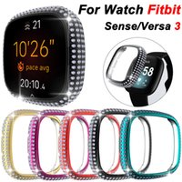All-round Diamond Bling Fashion Cover for Fitbit Versa 3 Watch Case Hard PC Shockproof Bumper Thin Light Replaceable Shell for Fitbit Sense case