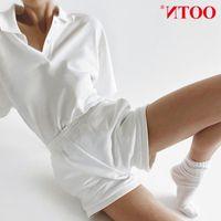Tute da donna Due Ootn White Piece Sets Donne Summer T Shirt E Vita alta Vita Sale Street Tracksuit Casual Knitted 2 Set Ladies
