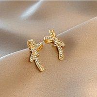 Stud Bow Jewelry For Women 2021 Diamond 925 Silver Earrings Trend Vintage Woman Earring Piercing Korean Fashion Accessories