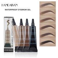 Handaiyan gel sobrancelha tintura por sopracciglia estilo líquido 6 cor impermeável não-suavização natural fácil de usar maquiagem sobrancelhas