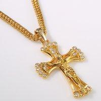 Pendant necklace Diamond Jesus Cross Alloy Necklace Hip Hop Hiphop gold silver plated fashion hot 2021 wholesale price