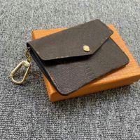 Moda Designers Moeda Moeda Feminina Zipper Chave Bolsa Bolsa M62017 Anel Pochette Cartão de Crédito Carteira Carteira Canvas Coin Bolsas No12568