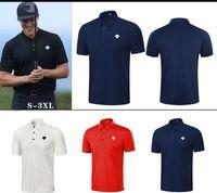 T-shirt dos homens da manga curta do verão 4 cores Roupa do golfe da tela de secagem rápida Camiseta exterior do esporte de lazer