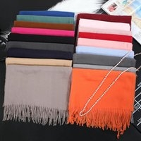 Scarves High-end Shawl Autumn And Winter Trend Warm Scarf Wild Pure Color Bib For Men Women