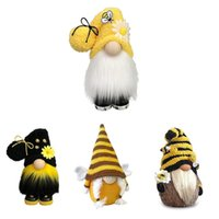 Party Decoration Nordic Bumble Bee Striped Gnome Faceless Doll Tree Hanging Ornament Decorative Plush Little Angel Pendant